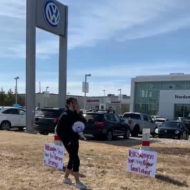 RFA | Protests at VW Dealerships